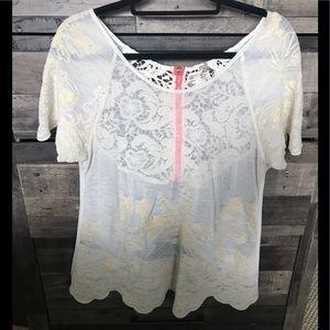 BKE embroider boho boutique top
